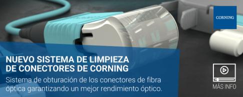 Nuevo sistema de limpieza de conectores de Corning